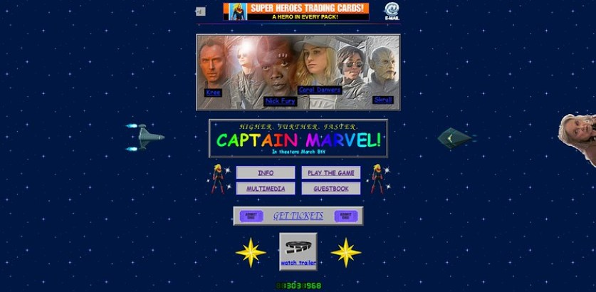 captain marvel official site 1990s