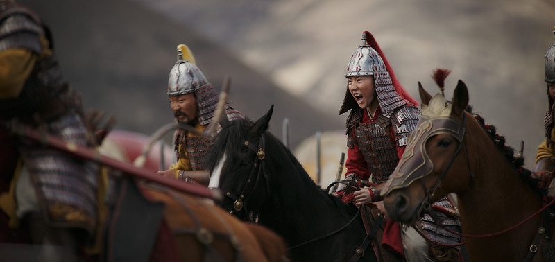 Disney's MULAN<br /> <br /> Mulan (Yifei Liu)<br /> <br /> Photo: Film Frame<br /> <br /> © 2020 Disney Enterprises, Inc. All Rights Reserved.