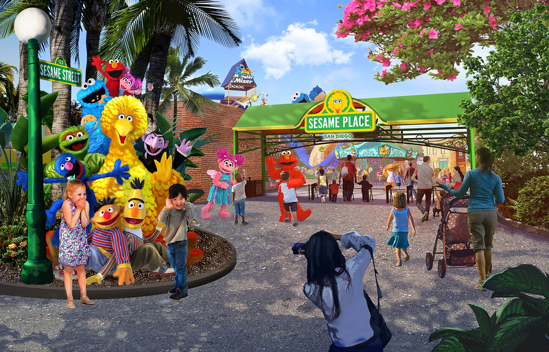 Sesame Place San Diego Entrance Rendering