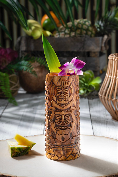 Etched Tiki Cup from Isla Nu-Bar at Universal Studios Hollywood