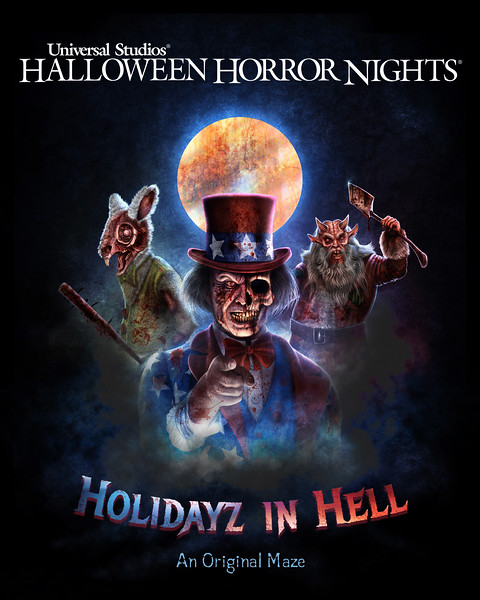 """Holidayz in Hell"" maze to debut at Universal Studios Hollywood's Halloween Horror Nights 2019"