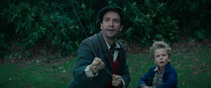 Lin-Manuel Miranda stars as Jack who jumps in to help Georgie Banks (Joel Dawson) in Disney's original musical MARY POPPINS RETURNS, a sequel to the 1964 MARY POPPINS which takes audiences on an entirely new adventure with the practically-perfect nanny and the Banks family.