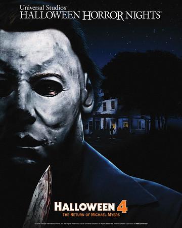 "Universal Studios' Halloween Horror Nights Unmasks Haddonfield's Infamous Slasher in All-New Terrifying Mazes Based on ""Halloween 4: The Return of Michael Myers,"" Beginning September 14"