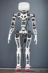 partially assembled humanoid robot