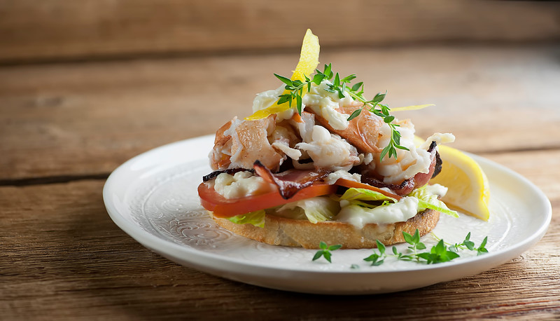 Lobster BLT Sandwiches with Brie