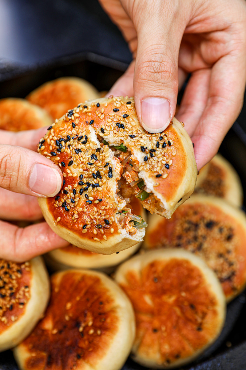 Pan-fried Kimchi Dumplings Recipe