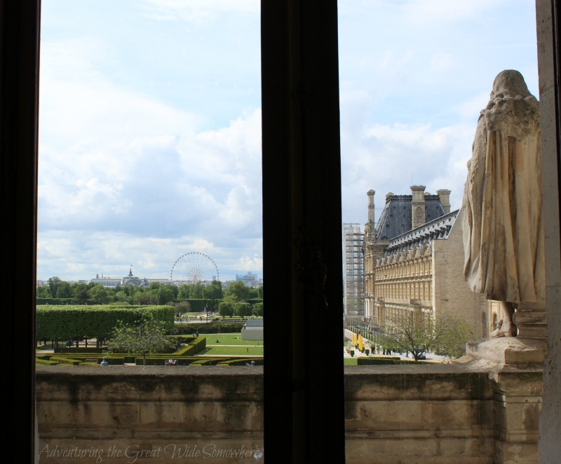 "View of ""The Big Wheel"" and the Grand Palais from one of the windows."