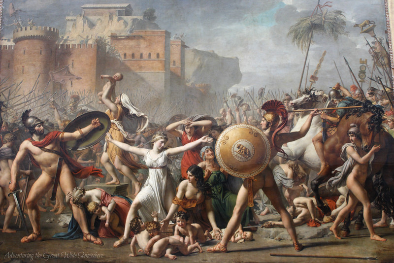"""The Intervention of the Sabine Women,"" also by Jacques-Louis David"