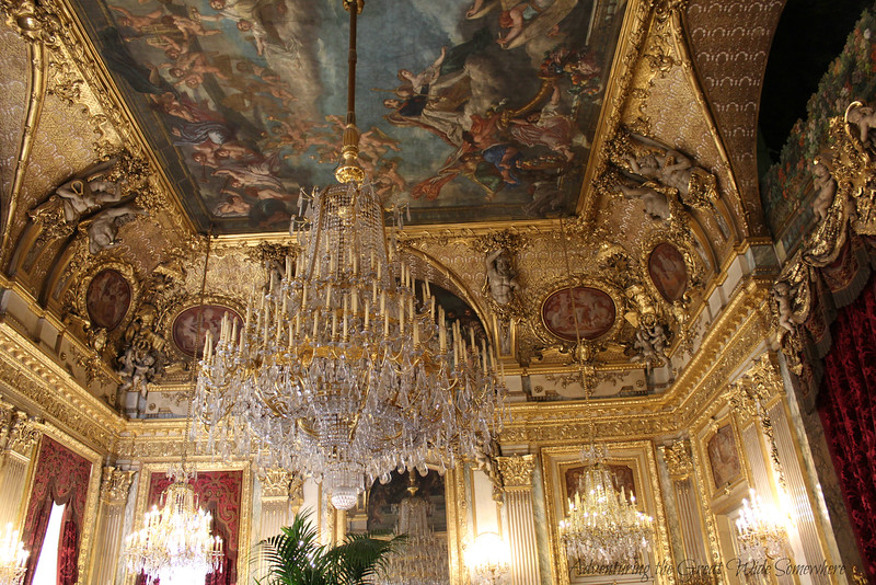 Napoleon's grand salon, with gilded ceilings to rival those at Versailles.