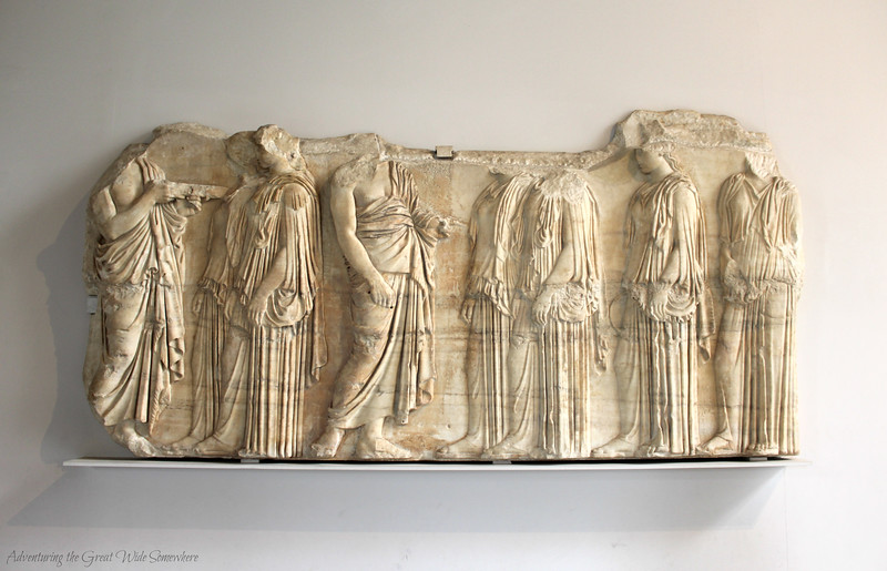 The Plaque of the Ergastines, part of the relief that once decorated the Parthenon in the Greek city of Athens.