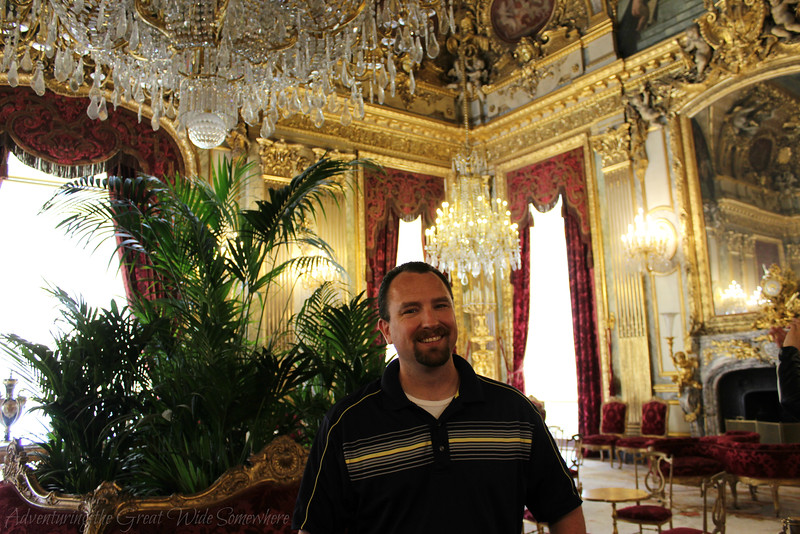 Dan in the grand salon of Napoleon's Louvre apartments