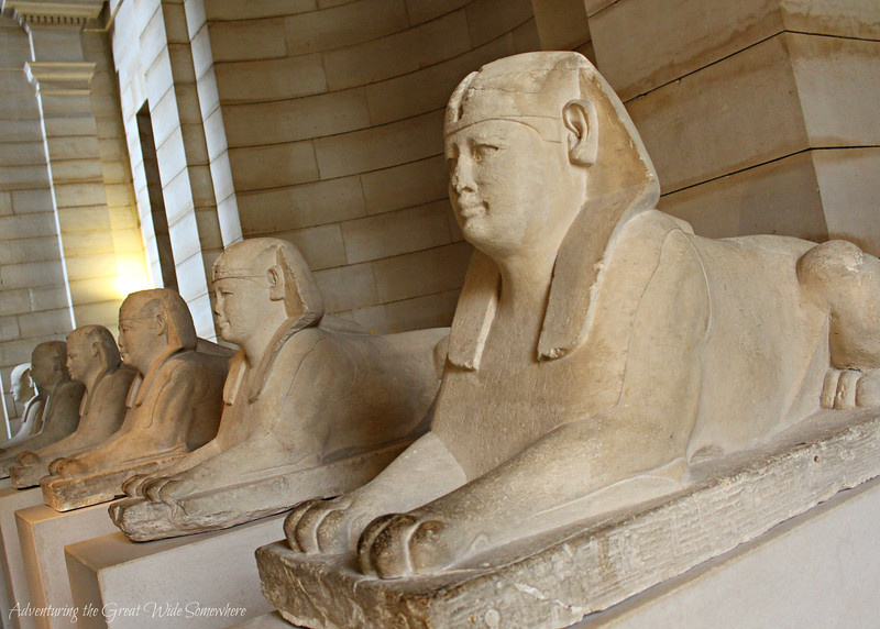 The Processional Way of Sphinxes, which now lines a walkway inside the Louvre Museum