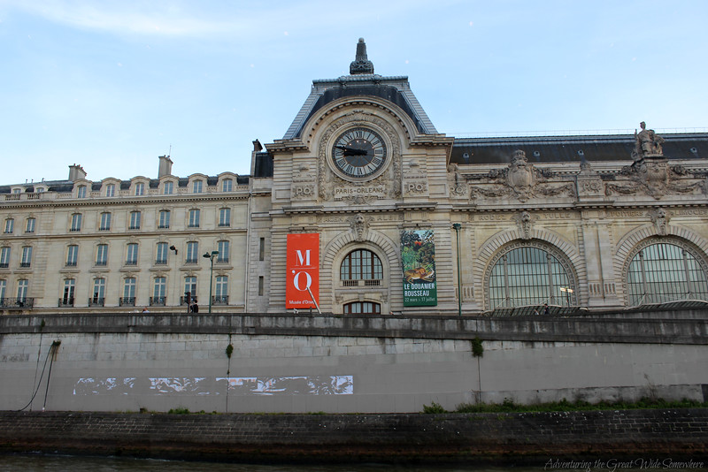 The Musee d'Orsay, seen from the top deck of the Bateaux Mouches dinner cruise in Paris