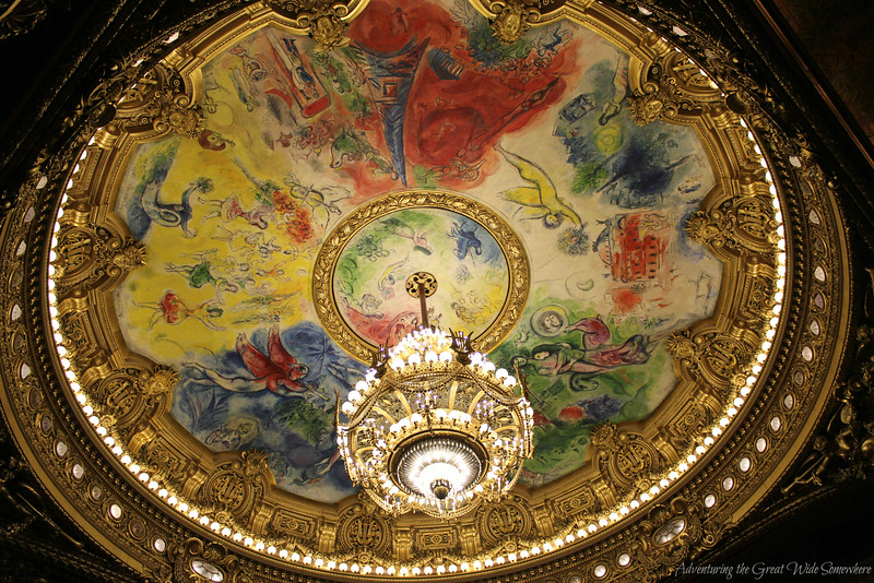 Chagall created this ceiling overlay in the auditorium of the Palais Garnier