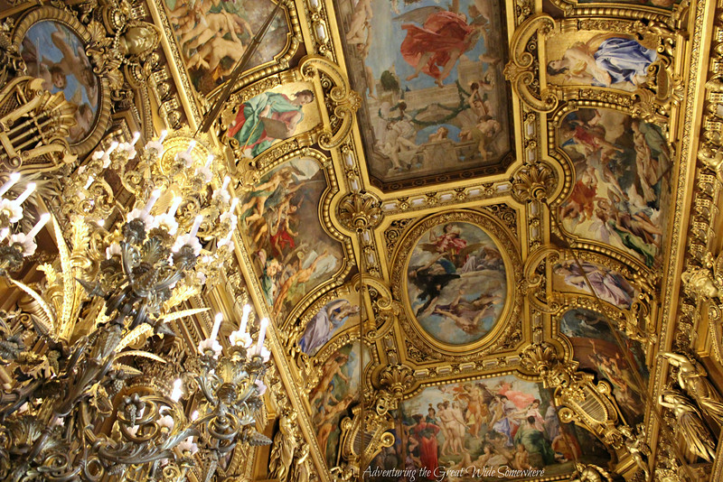 Beautiful Ceiling Detail in the Grand Foyer of the Palais Garnier