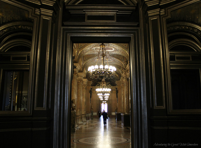 Looking Down a Beautiful Hallway at the Palais Garnier, a Lesser-Known Gem in Paris