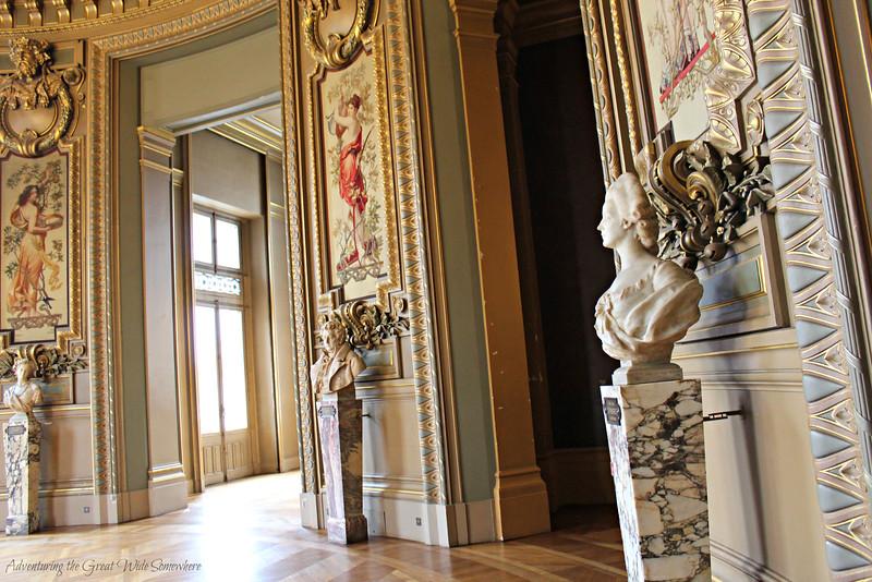A Room for Socializing at the Palais Garnier, or Paris Opera House
