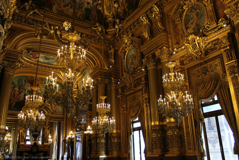 The Grand Foyer of the Palais Garnier Echoes the Hall of Mirrors at Versailles