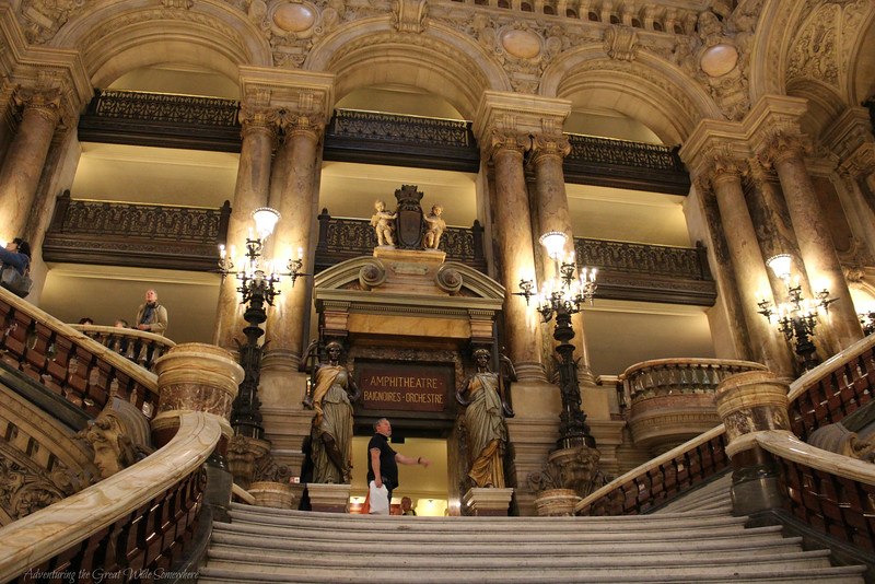 The beautiful Grand Staircase of the Palais Garnier, a lesser-known gem in the heart of Paris