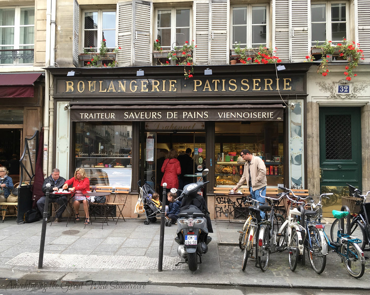 A charming little boulangerie and patisserie in the Marais neighborhood of Paris. Featuring delicious fresh-baked bread, coffee, and colorful pastries and macarons, this is where we preferred to eat breakfast during our stay.