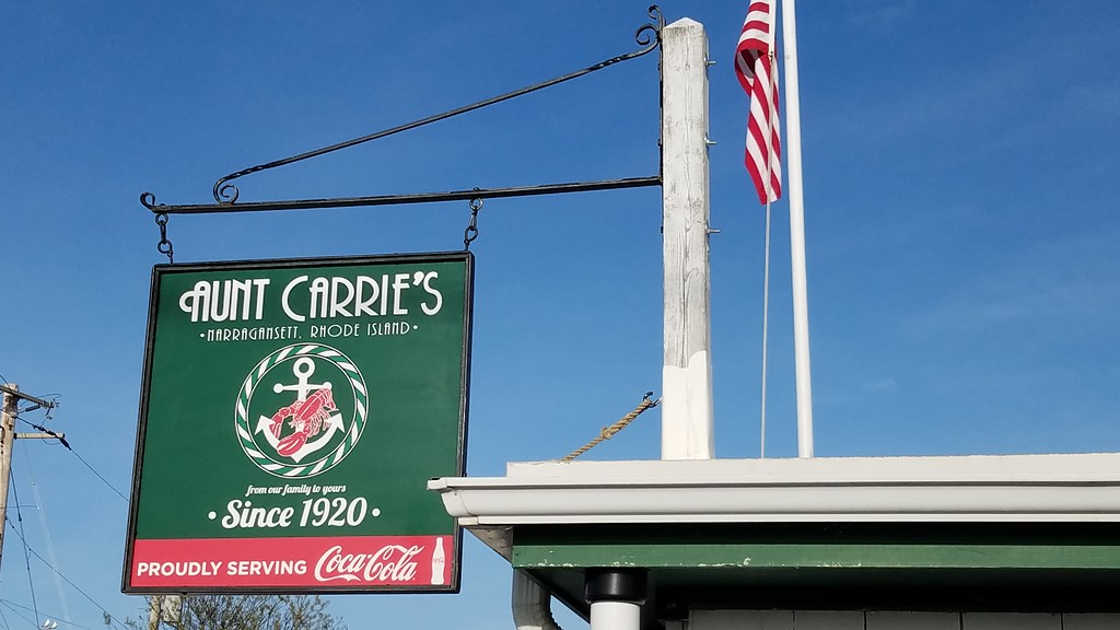Aunt Carrie's Restaurant Sign, Rhode Island