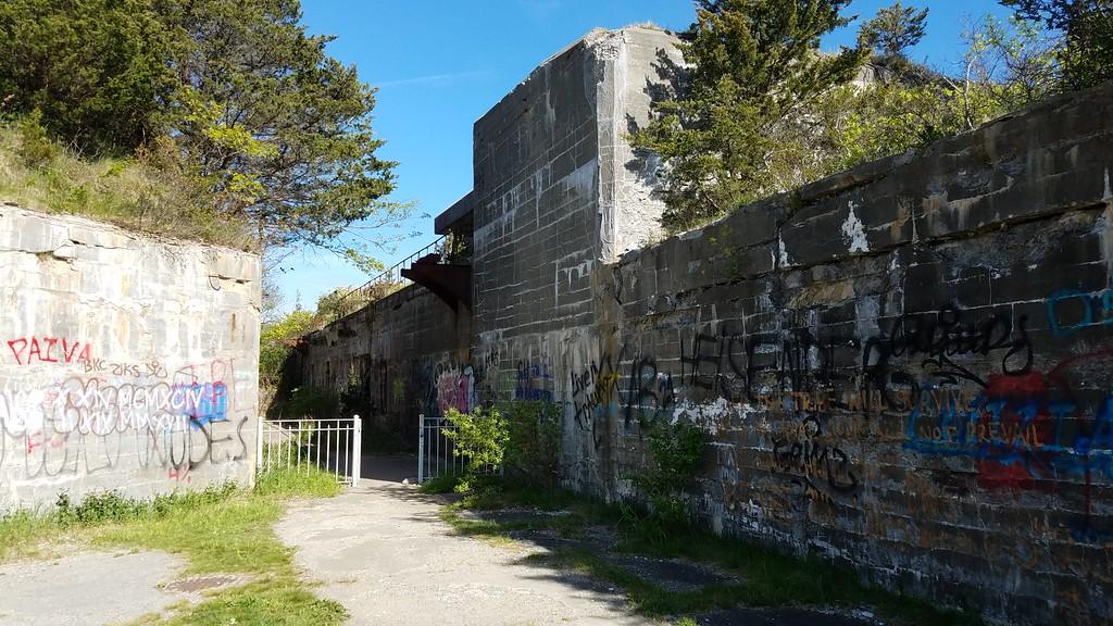 Fort Wetherill entrance in Rhode Island
