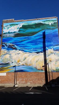 waves street art in Rhode Island