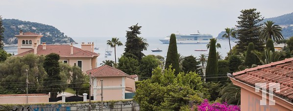Cruise ship on the Mediterranean French Riviera