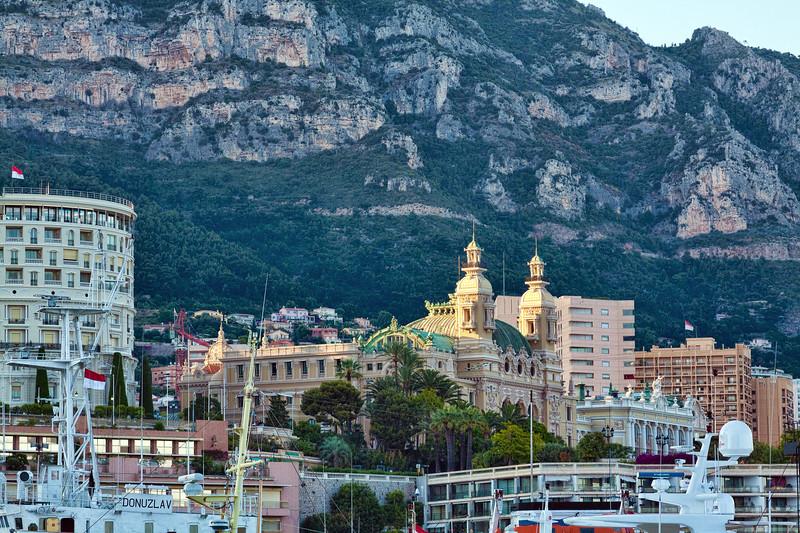 Monte Carlo Monaco water front buildings and marina