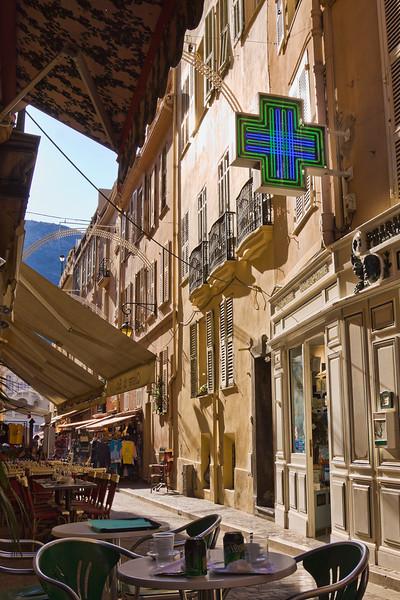 Narrow street in Monaco