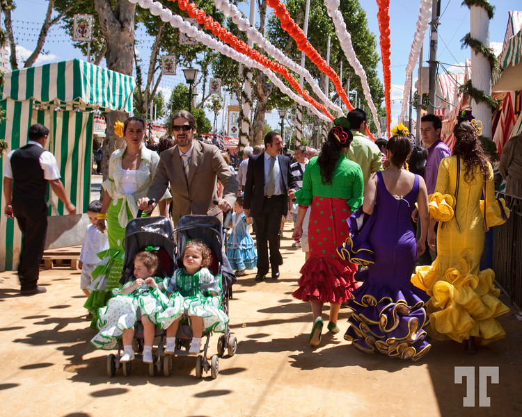 May Day fair in Seville, Spain