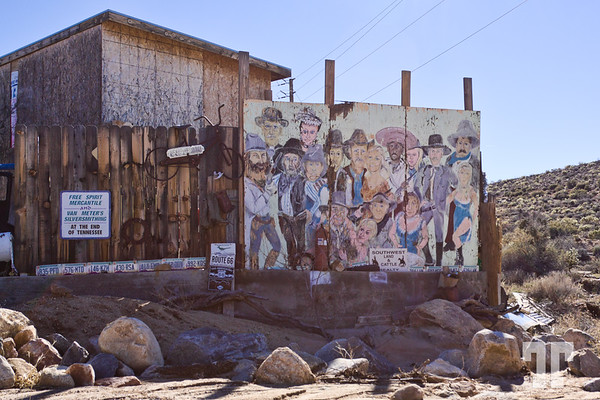 Wild Wes mural in Chloride, Arizona