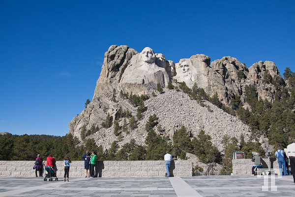 Visitors at Mount Rushmore monument