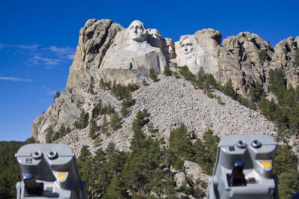 Binoculars at the Rushmore monument