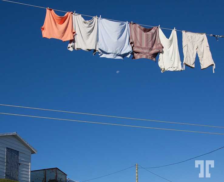 Laundry day in Fogo island, Newfoundland - simple life