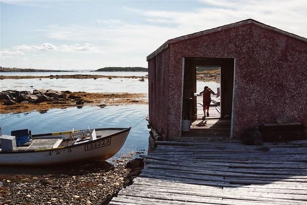 Old fisherman shed in Fogo Island, Newfoundland