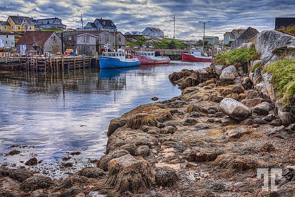 Low tide at Peggy's Cove, Nova Scotia - by Tatiana Travelways