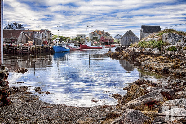 Peggy's Cove at low tide, Nova Scotia -by Tatiana Travelways