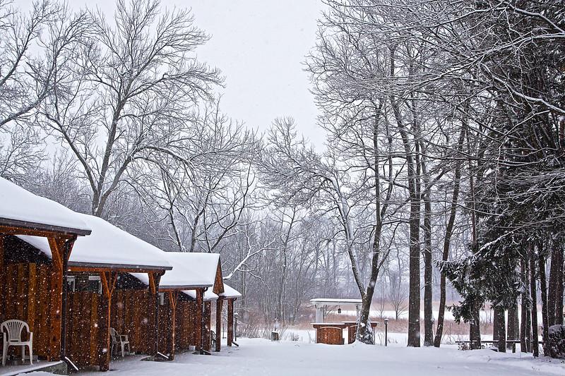 Forest Inn motel in Stratford, Ontario in January