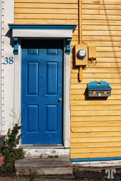 Blue door in St. John's Newfoundland