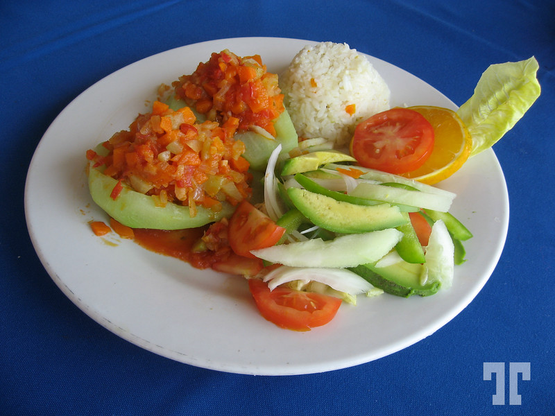 Vegetarian plate at Los Flamingos hotel in Acapulco