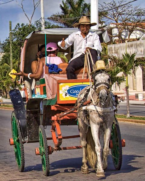 Chariot ride Cuzumel
