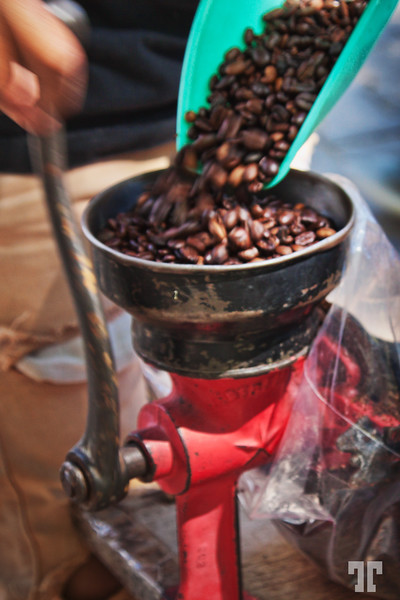 Coffe grinder in Ajijic, Mexico market