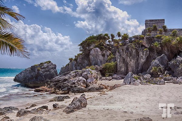 Tulum Mayan structure on the Caribbean coast of Mexico