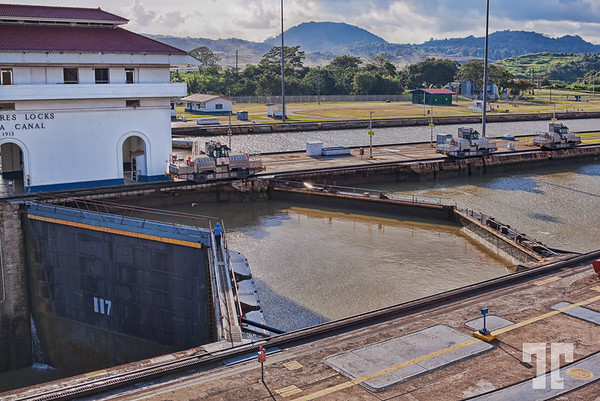 Panama Canal at Miraflores locks