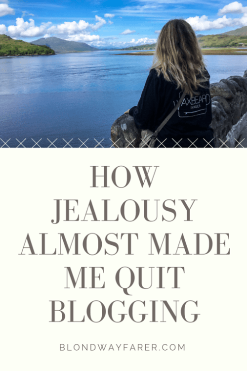 travel blogging and jealousy