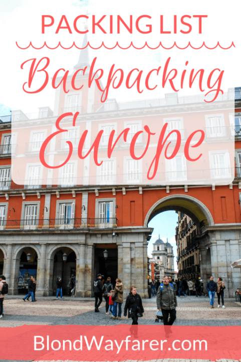 packing list for backpacking europe | packing europe | solo travel tips | europe travel | backpacking guide | packing guide to europe | packing advice | what to bring on my trip | travel blog | travel inspiration | visit europe | visit western europe