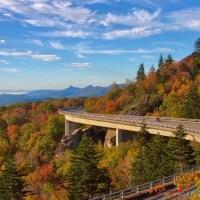 Fall Colors by Linn Cove Viaduct