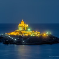 Vivekananda Rock by twilight