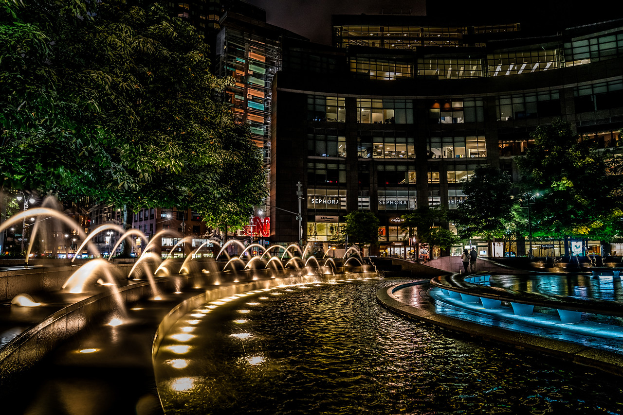 Columbus Circle at Midnight